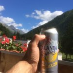 From the balcony and try out this Swiss Radler (Beer with lemonade)