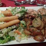 L'assiette poulet mariné