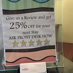 Promotion to make the worst service look good