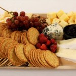 Cheese and cracker platter