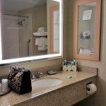 Nice size & very clean bathroom