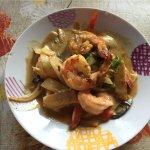 crevettes au curry vert