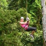 Ziplining thru the forest.