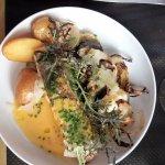 Le Bouchon Bordelais pavé de morue pommes de terre et aubergine