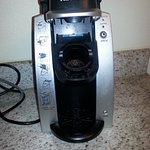 Keurig coffee maker makes coffee easily and quickly