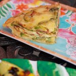Bacon, Asparagus, and Swiss cheese Quiche