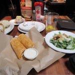 spicy Buffalo chicken wrap & caesar salad