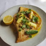 Slightly Crunchy pots and a bit too buttery skate wing