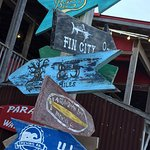 Neat place for dining with Fin City beer available