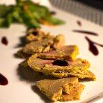 Otro de nuestros entrantes preferidos, Foie con mermelada de frambuesa