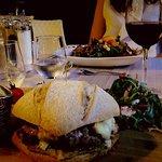 Le rock burger et la salade des alpes