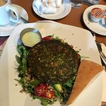 Yummmyyy! Kale & Quinoa Burger and Salad!