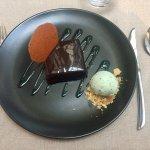 Plat et dessert du menu à 59€