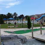 View of waterpark from mini golf area.