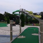 View of Waterslides from Mini golf area