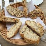 Gluten free bread at Isola Sarda in Antwerp, Belgium
