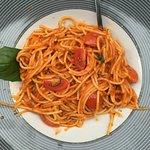 Gluten free pasta at Isola Sarda in Antwerp, Belgium ..so delicious and fresh!