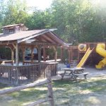 First playground with outdoor gazeebo