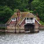 One of the houses protruding into Rudyard Lake.