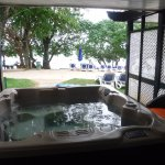 Nude beach jacuzzi premium suite at Hedo