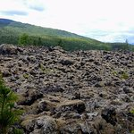 View of the lava fields