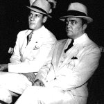 J Edgar Hoover, right, with top aide Clyde Tolson, both buried within 50 yards of each other