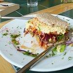 Hummus and salad pitta