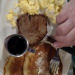 Steak and Eggs and Pancakes