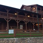 Outside corner view of all rooms at the Lodge.  All have access to porch and view or the gorge.