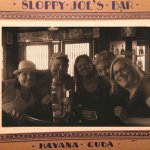 Our group framed by a period Sloppy Joe's frame just like the celebrity pics in the bar.