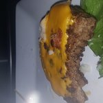 This is their idea of the NEW bbbacon burger. Worst dinner ever!!! Took 45 minutes to get this a