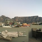 View of Table Mountain from the rooftop of our apartment.
