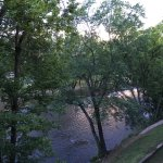 Nice view of river from 3rd floor balcony room. Peaceful river sounds.