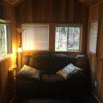 Inside Rialto tiny house.