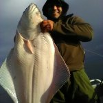 We book Halibut Charters!  John with a 70# fish this May!