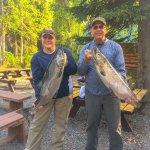 Happy Guests with their King Salmon!