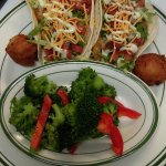 Lunch Tacos with side of Veggies