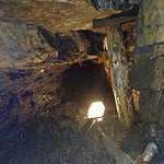 One of the narrow tunnels that the miners worked in.