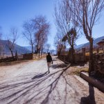 A walk into the village side of Phobjikha valley