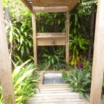The cute outdoor shower