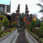 The typical Balinese gate
