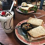 sandwiches and milk shakes
