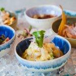 Ceviche & tiradito tasting: pez limón, dorada, atún y lubina