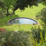 The semi circular pond
