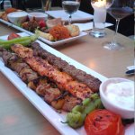 Two different dishes for two. Both delicious and the Libanese wine was a great match for the mea