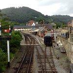 Llangollen heritage railway from bridge over River Dee