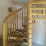 Spiral staircase to breakfast room