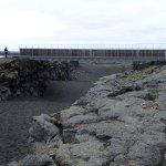 Bridge Between Continents--where the Eurasian plate and North American plate are pulling apart