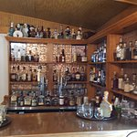 The well stocked bourbon bar ... some rare and truly delicious bottles here!