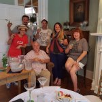 Our class with the Colonel ... mint juleps for everyone!